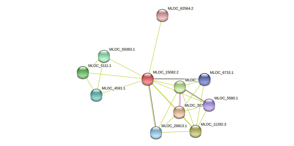 MLOC_15082.1 protein (Hordeum vulgare) - STRING interaction network