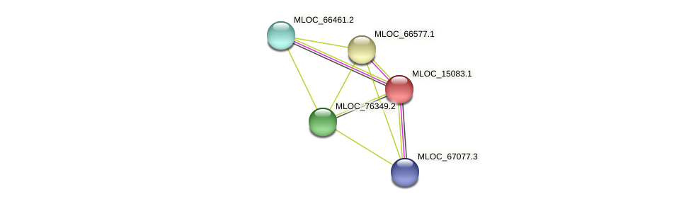 MLOC_15083.1 protein (Hordeum vulgare) - STRING interaction network