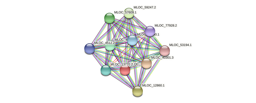MLOC_1553.1 protein (Hordeum vulgare) - STRING interaction network