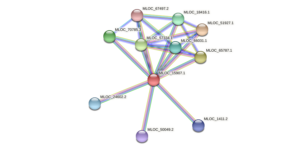 MLOC_15907.1 protein (Hordeum vulgare) - STRING interaction network
