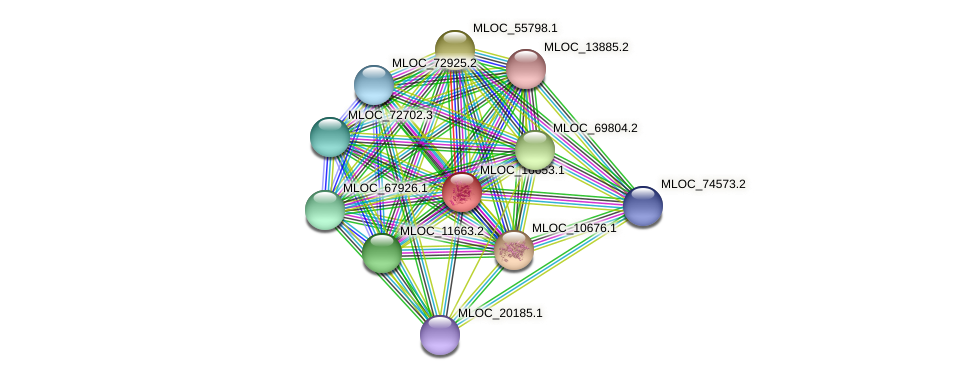 MLOC_16653.1 protein (Hordeum vulgare) - STRING interaction network