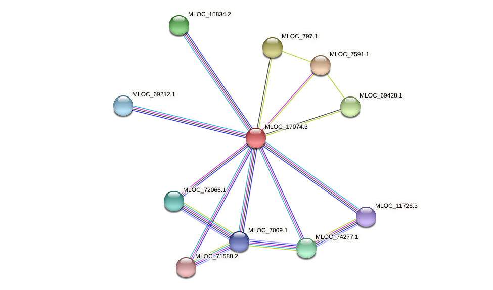 MLOC_17074.3 protein (Hordeum vulgare) - STRING interaction network