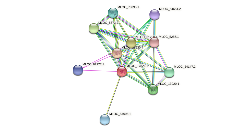 MLOC_17826.1 protein (Hordeum vulgare) - STRING interaction network