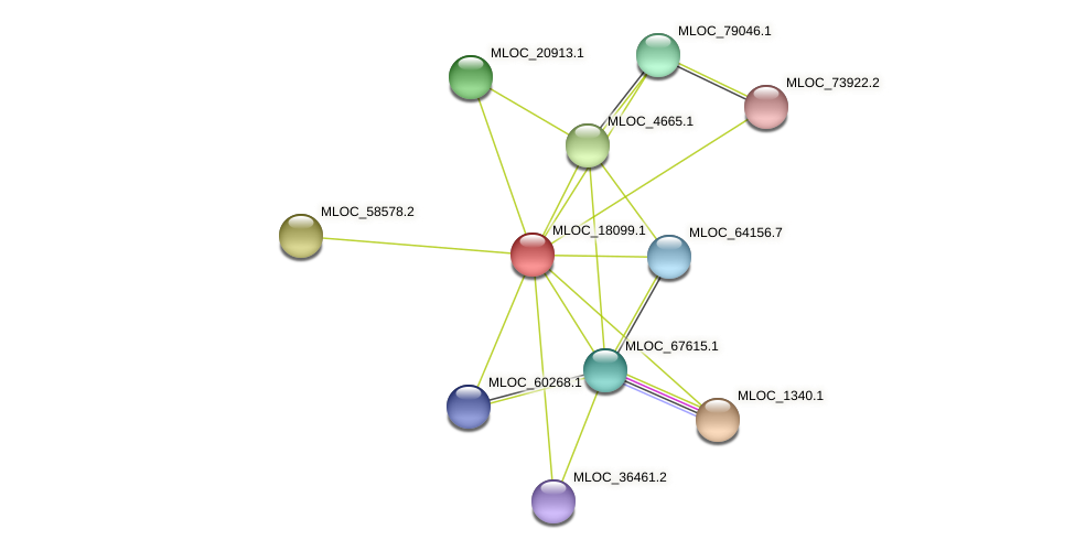 MLOC_18099.1 protein (Hordeum vulgare) - STRING interaction network