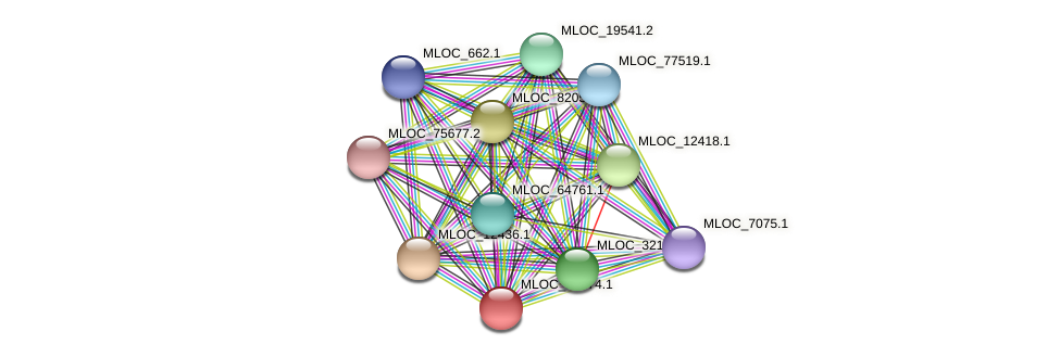 MLOC_19974.1 protein (Hordeum vulgare) - STRING interaction network