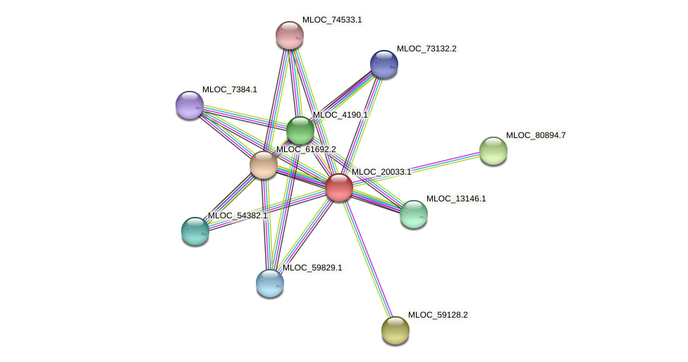 MLOC_20033.1 protein (Hordeum vulgare) - STRING interaction network