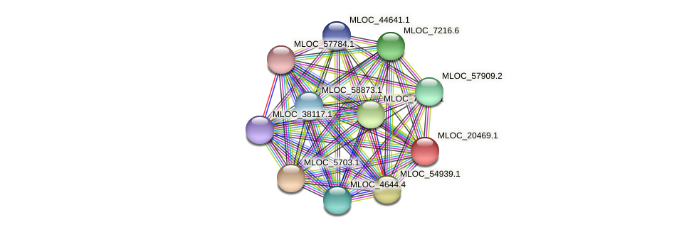 MLOC_20469.1 protein (Hordeum vulgare) - STRING interaction network