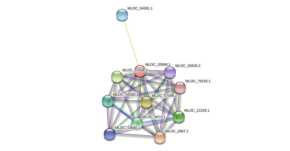 MLOC_20589.1 protein (Hordeum vulgare) - STRING interaction network
