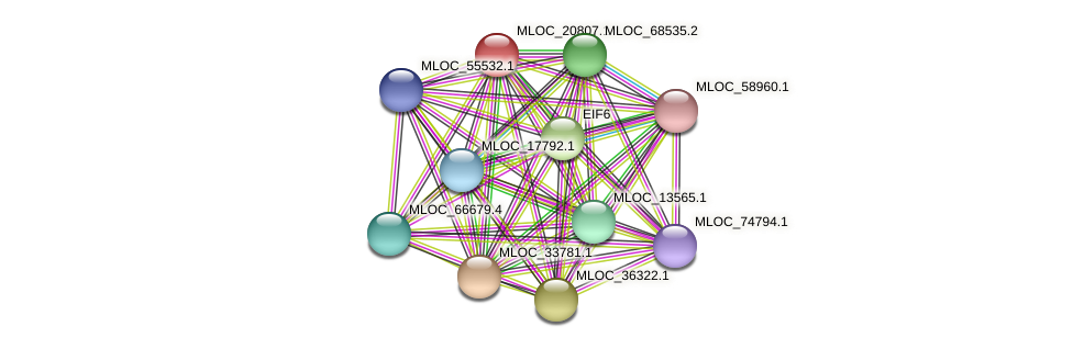 MLOC_20807.1 protein (Hordeum vulgare) - STRING interaction network
