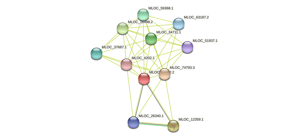 MLOC_21432.2 protein (Hordeum vulgare) - STRING interaction network