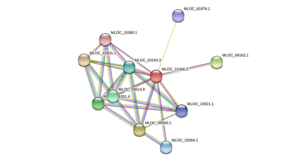 MLOC_21456.1 protein (Hordeum vulgare) - STRING interaction network