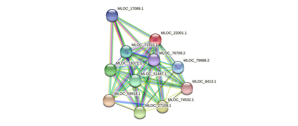 MLOC_22001.1 protein (Hordeum vulgare) - STRING interaction network