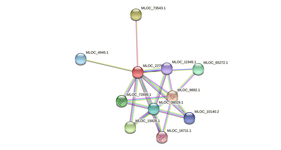 MLOC_22782.1 protein (Hordeum vulgare) - STRING interaction network