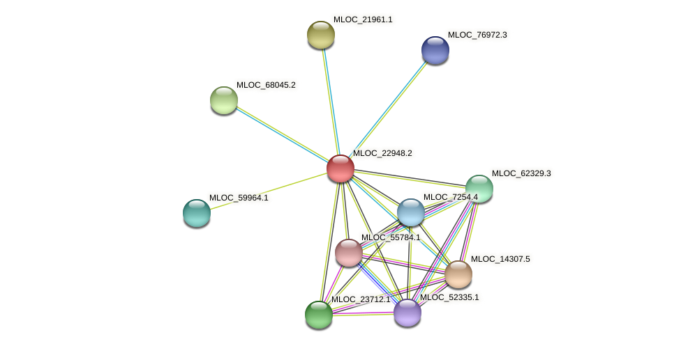 MLOC_22948.2 protein (Hordeum vulgare) - STRING interaction network