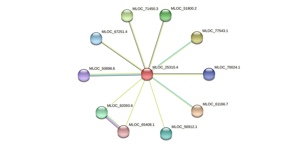 MLOC_25310.4 protein (Hordeum vulgare) - STRING interaction network