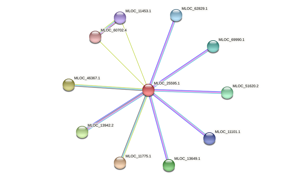 MLOC_25595.1 protein (Hordeum vulgare) - STRING interaction network
