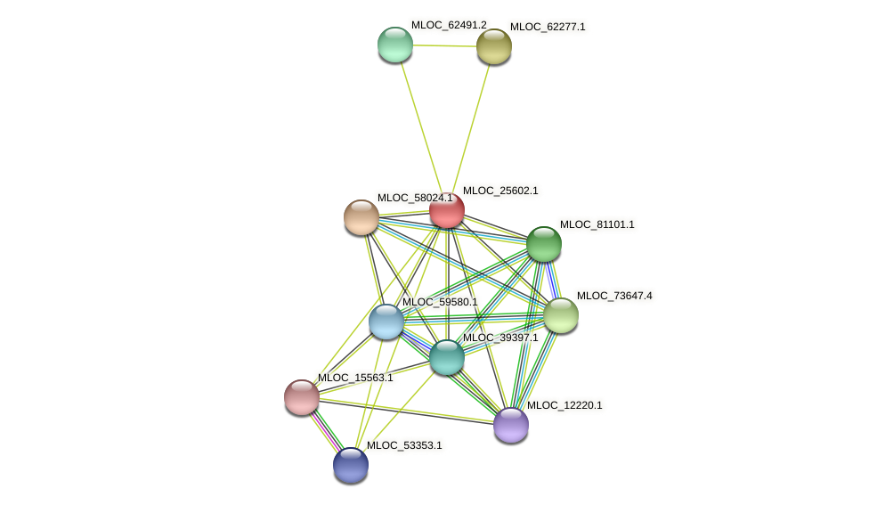 MLOC_25602.1 protein (Hordeum vulgare) - STRING interaction network