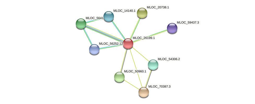 MLOC_26199.1 protein (Hordeum vulgare) - STRING interaction network