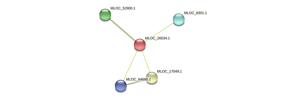 MLOC_26534.1 protein (Hordeum vulgare) - STRING interaction network