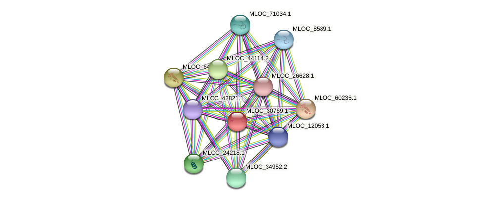 MLOC_30769.1 protein (Hordeum vulgare) - STRING interaction network