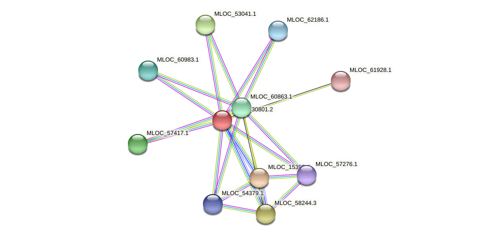MLOC_30801.1 protein (Hordeum vulgare) - STRING interaction network