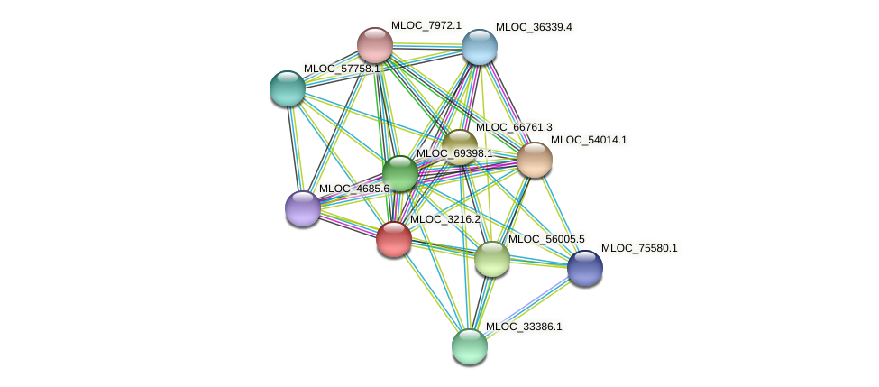 MLOC_3216.2 protein (Hordeum vulgare) - STRING interaction network