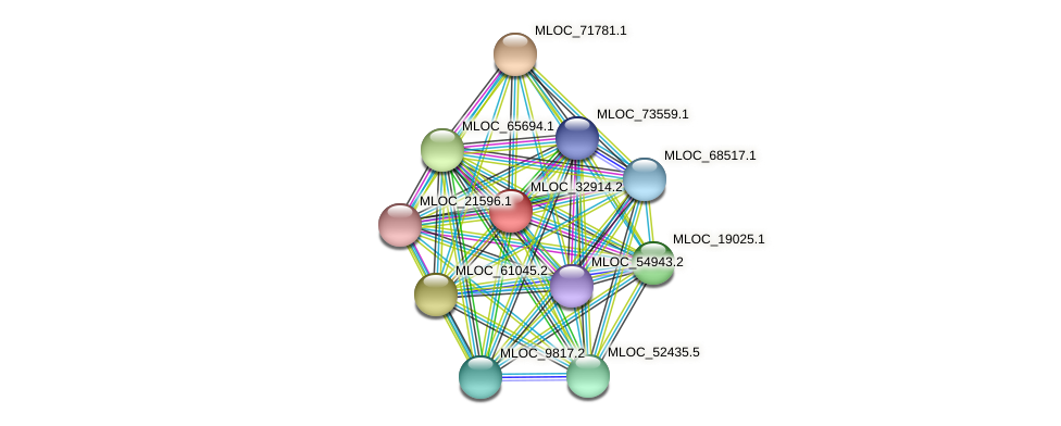 MLOC_32914.2 protein (Hordeum vulgare) - STRING interaction network