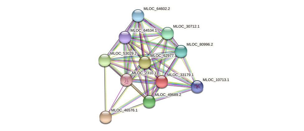 MLOC_33179.1 protein (Hordeum vulgare) - STRING interaction network
