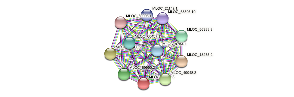 MLOC_33350.3 protein (Hordeum vulgare) - STRING interaction network