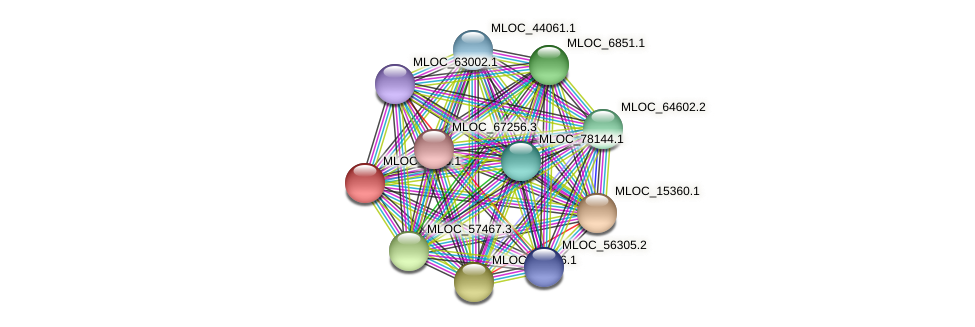MLOC_3653.1 protein (Hordeum vulgare) - STRING interaction network