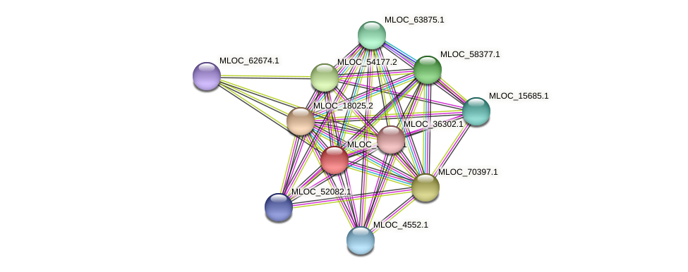 MLOC_37196.1 protein (Hordeum vulgare) - STRING interaction network