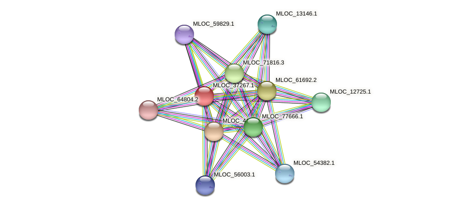 MLOC_37267.1 protein (Hordeum vulgare) - STRING interaction network