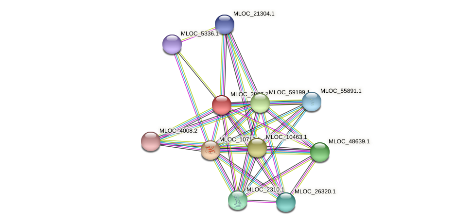 MLOC_3807.2 protein (Hordeum vulgare) - STRING interaction network