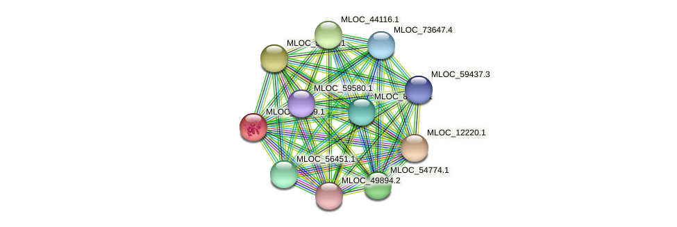 MLOC_38099.1 protein (Hordeum vulgare) - STRING interaction network