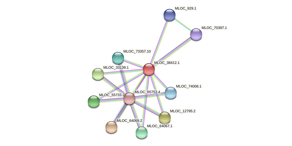 MLOC_38412.1 protein (Hordeum vulgare) - STRING interaction network