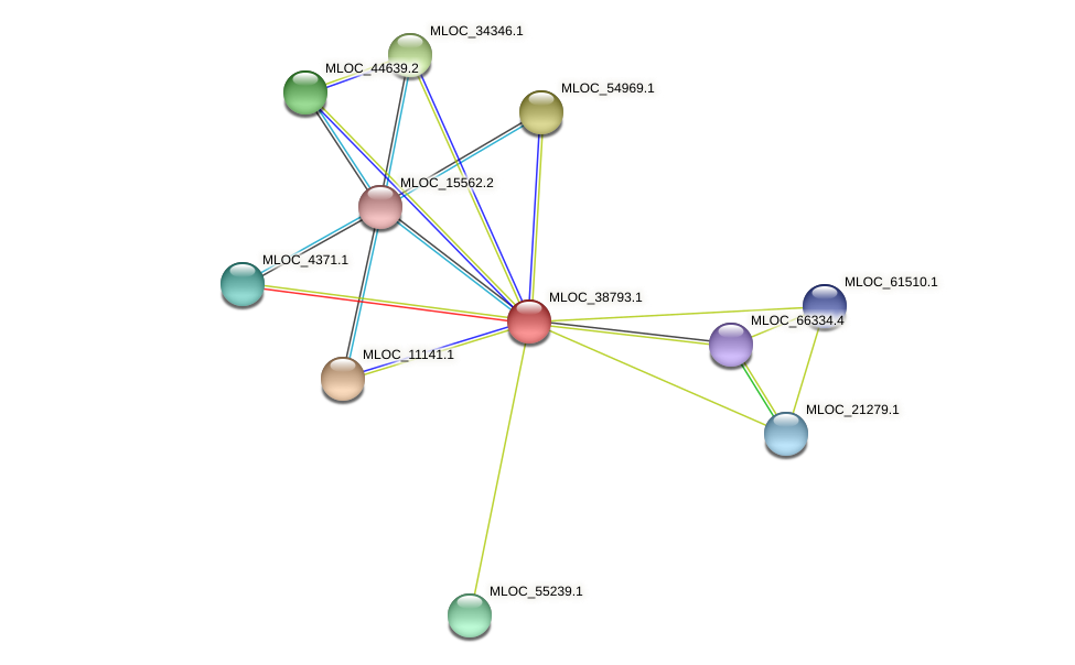 MLOC_38793.1 protein (Hordeum vulgare) - STRING interaction network