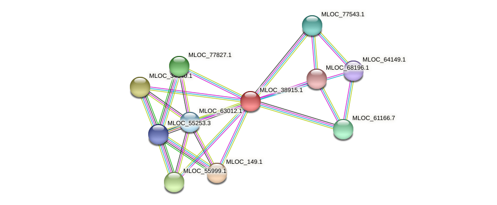 MLOC_38915.1 protein (Hordeum vulgare) - STRING interaction network