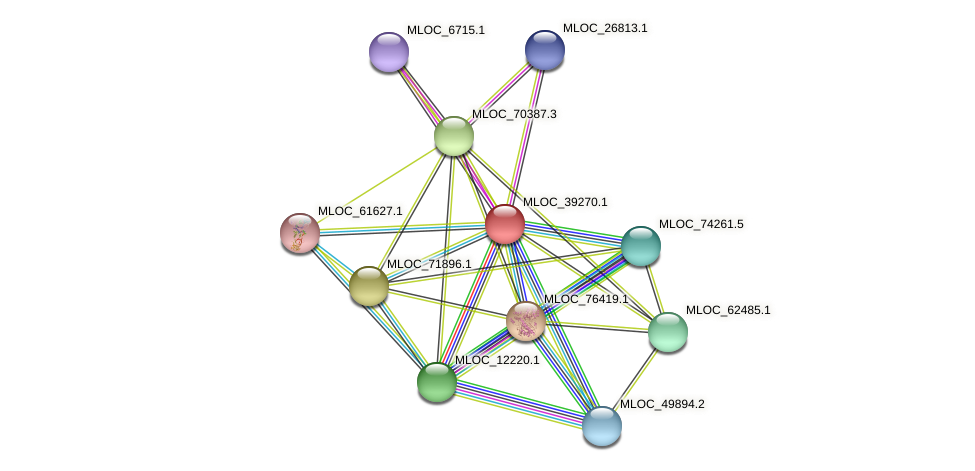 MLOC_39270.1 protein (Hordeum vulgare) - STRING interaction network