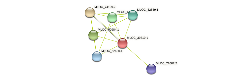 MLOC_39819.1 protein (Hordeum vulgare) - STRING interaction network