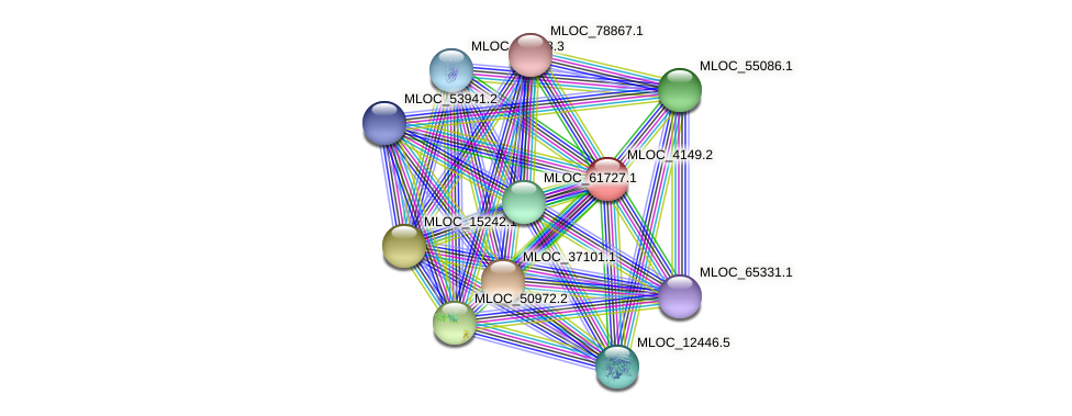 MLOC_4149.2 protein (Hordeum vulgare) - STRING interaction network