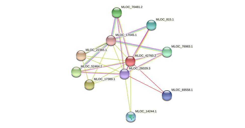 MLOC_42760.2 protein (Hordeum vulgare) - STRING interaction network