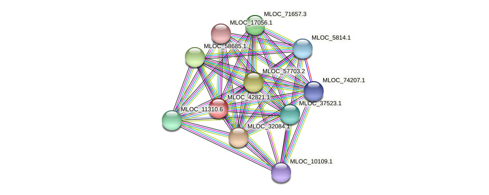 MLOC_42821.1 protein (Hordeum vulgare) - STRING interaction network