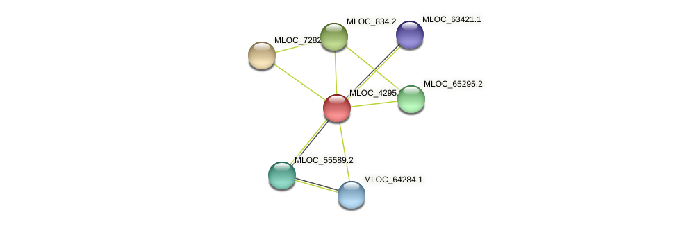 MLOC_4295.2 protein (Hordeum vulgare) - STRING interaction network