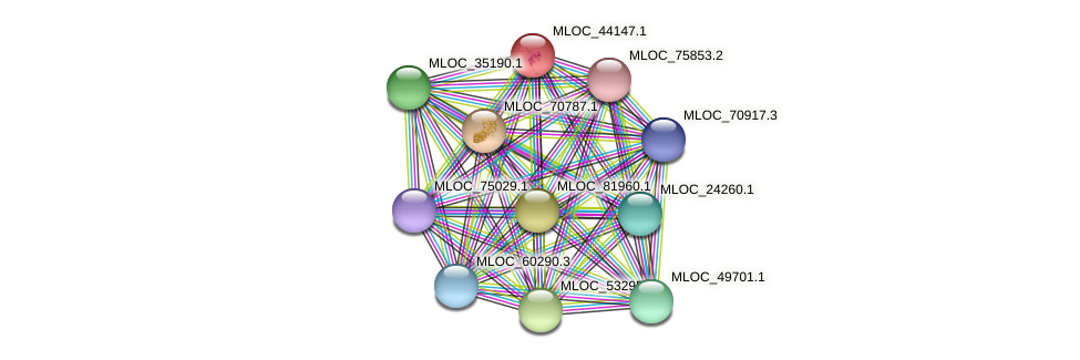 MLOC_44147.1 protein (Hordeum vulgare) - STRING interaction network