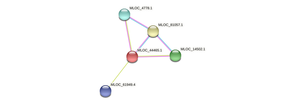 MLOC_44465.1 protein (Hordeum vulgare) - STRING interaction network
