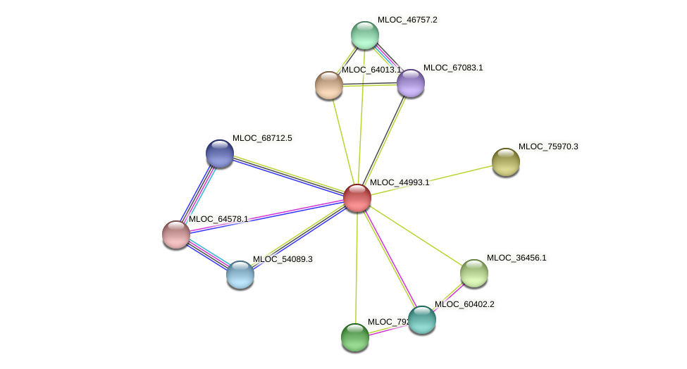 MLOC_44993.1 protein (Hordeum vulgare) - STRING interaction network