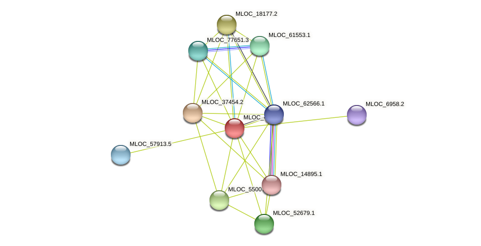 MLOC_4525.1 protein (Hordeum vulgare) - STRING interaction network