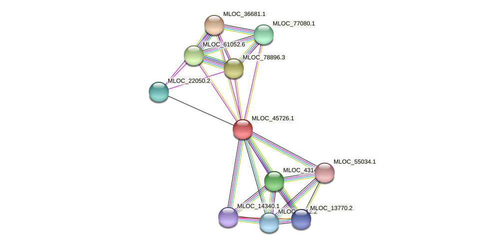 MLOC_45726.1 protein (Hordeum vulgare) - STRING interaction network
