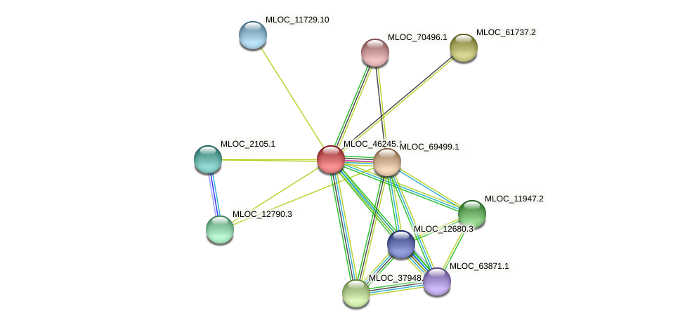 MLOC_46245.1 protein (Hordeum vulgare) - STRING interaction network