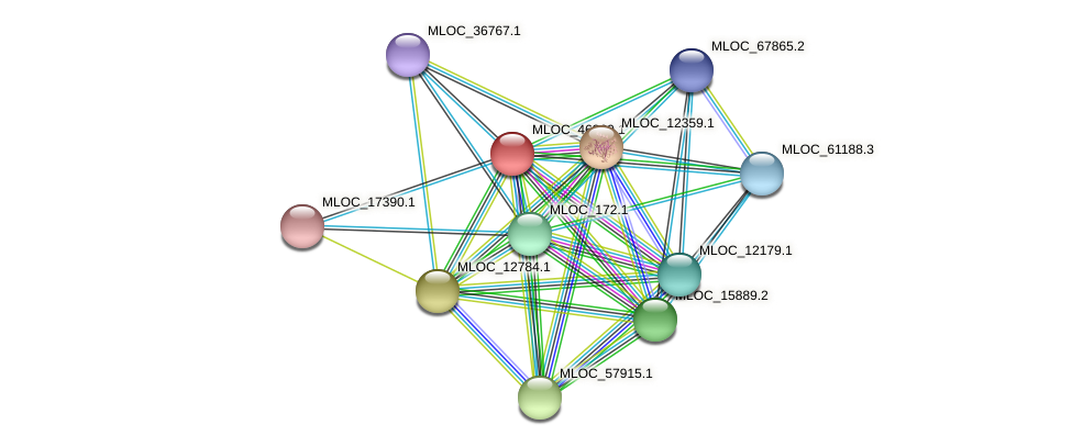 MLOC_46360.1 protein (Hordeum vulgare) - STRING interaction network